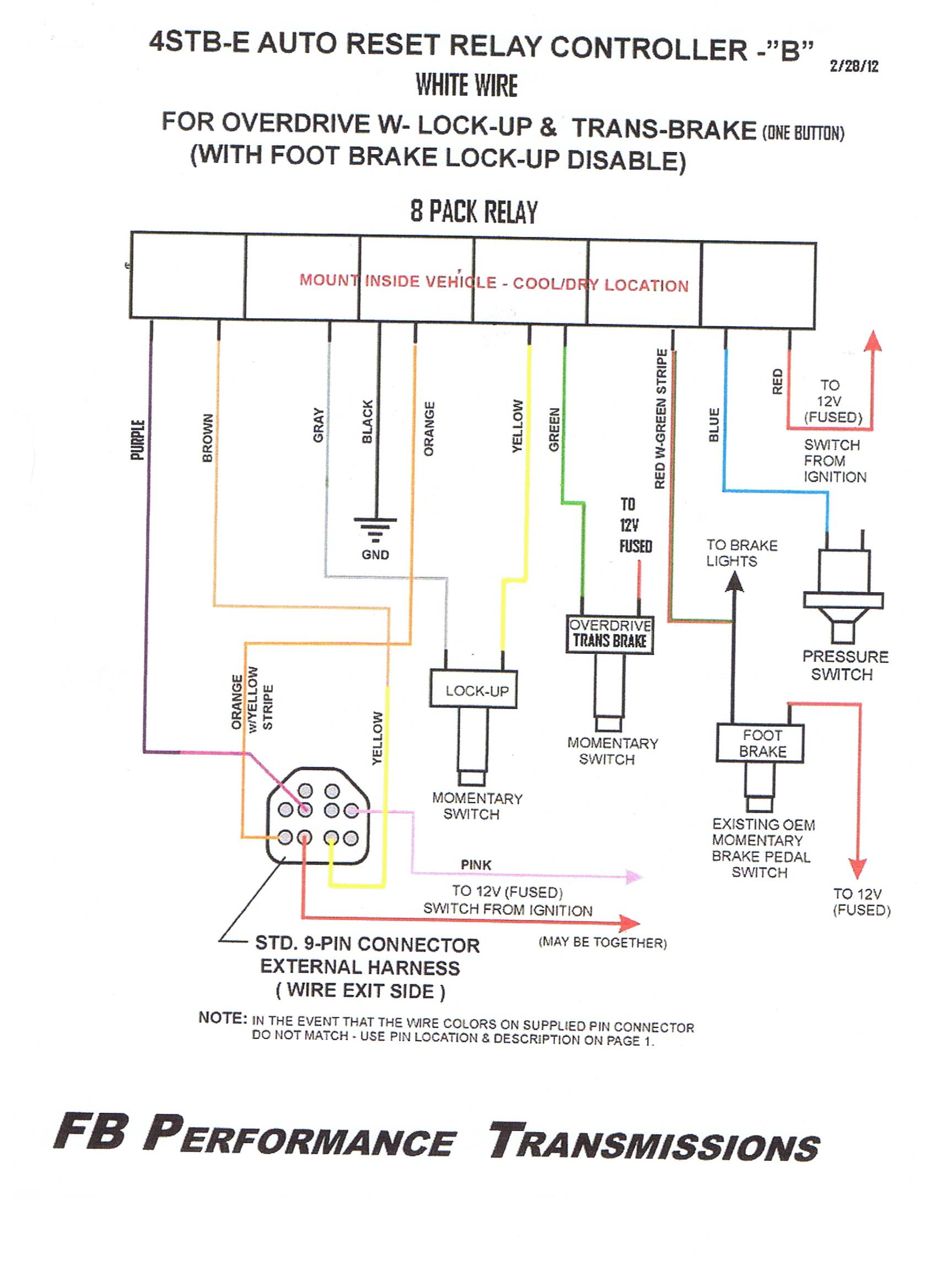 technical advice wiring and operation 9 pin feb 2012